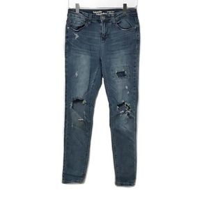 Hippie Laundry Mid Rise Skinny Destroyed Jeans 28